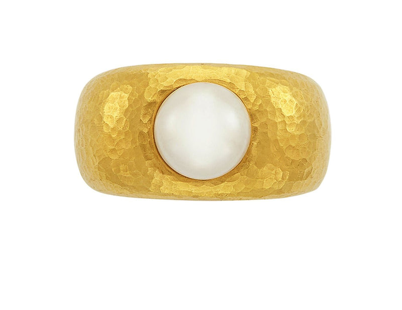 Linda Lee Johnson 22K Yellow Gold Pearl Ring 3