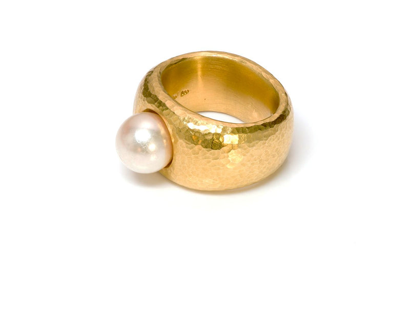 Linda Lee Johnson 22K Gold Pearl Ring