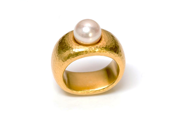 Linda Lee Johnson 22K Yellow Gold Pearl Ring