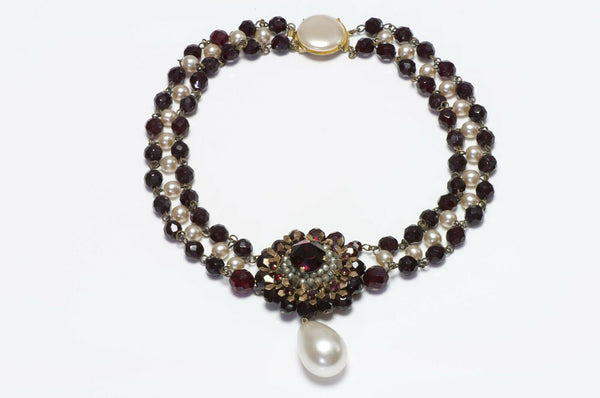 Louis Rousselet Pearl Necklace