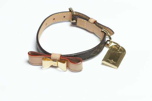 Louis Vuitton Baxter Brown Monogram Dog Collar