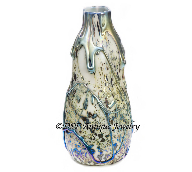 Louis Comfort Tiffany Favrile Lava Glass Vase