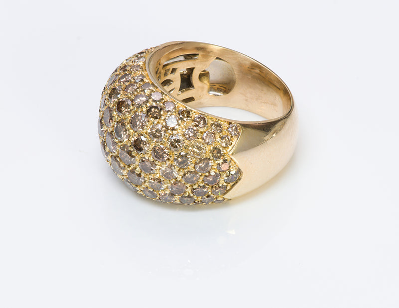 Luca Carati 18K Gold Brown Diamond Ring 1