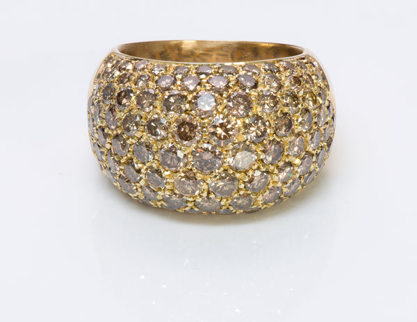 Luca Carati 18K Gold Brown Diamond Ring