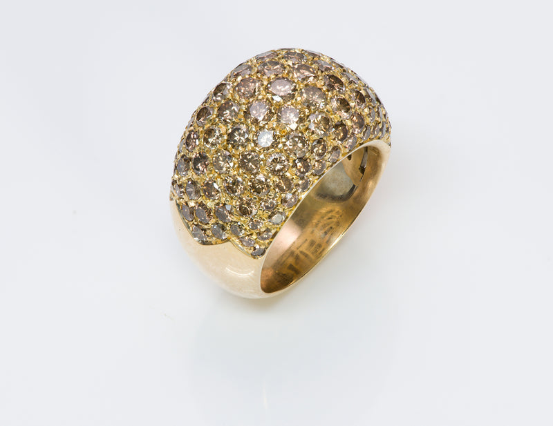 Luca Carati 18K Y Gold Brown Diamond Ring