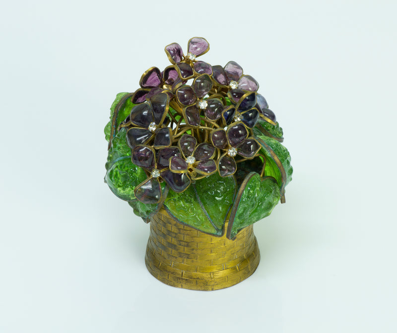 Maison Gripoix for Chanel Poured Glass Flower Cachepot