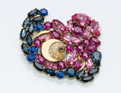 Marc Jacobs Crystal Brooch
