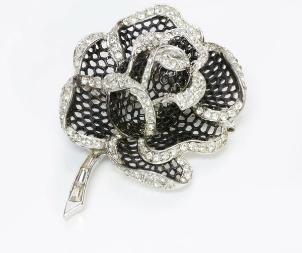 Marcel Boucher Crystal Honeycomb Rose of Seville Brooch