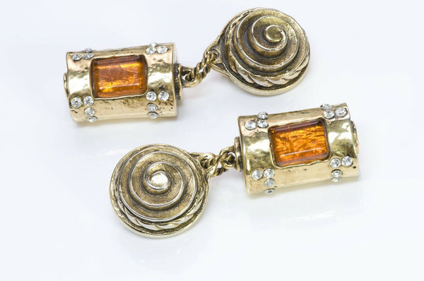 Marie Paris 1980's Maison Gripoix Drop Earrings