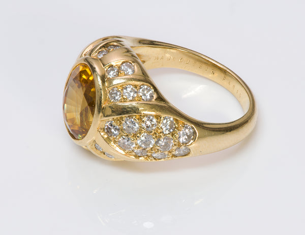 Mauboussin Yellow Sapphire Diamond Gold Ring