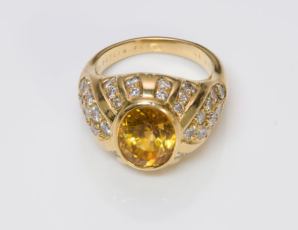 Mauboussin Paris Yellow Sapphire Diamond Gold Ring