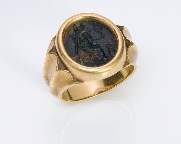 Ancient Intaglio & Antique Gold Men's Ring