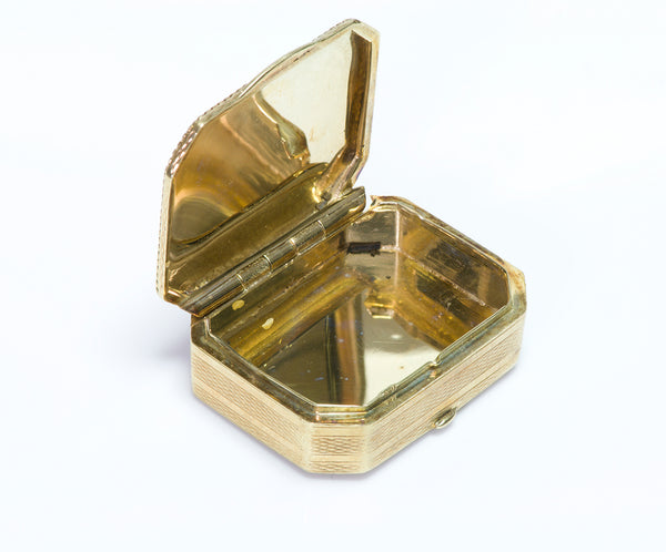 Antique Miniature Yellow Gold Box