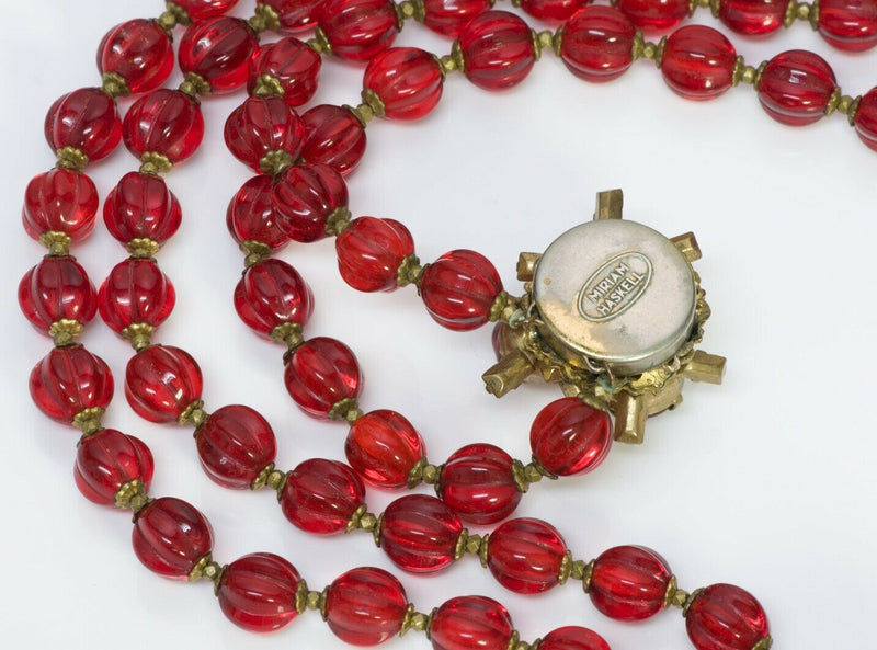 Miriam Haskell Maison Gripoix Beads Glass Necklace