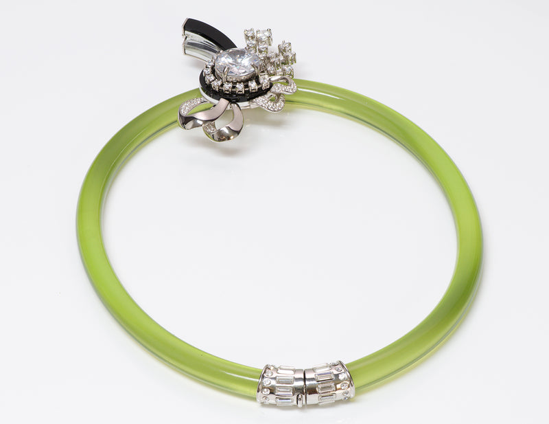 Miu Miu by Prada Green Crystal Shooting Star Necklace 3
