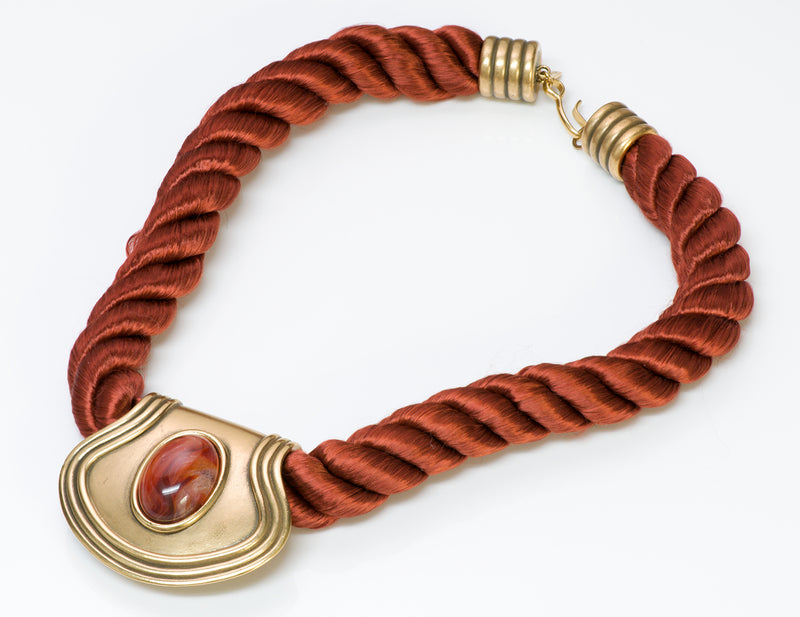Monet Etruscan Revival Rope Necklace