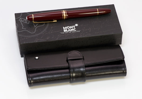 Montblanc Meisterstuck Traveller Burgundy Fountain Pen 2