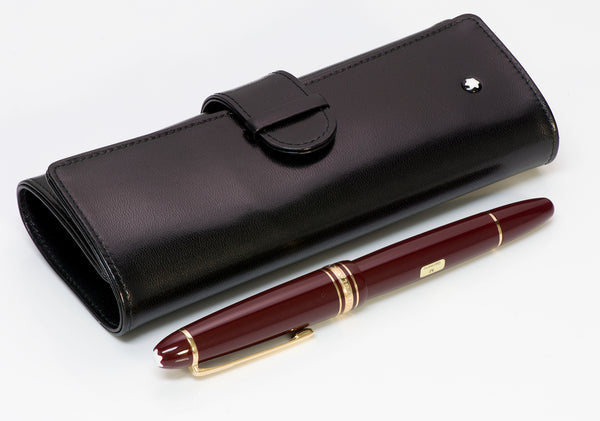 Montblanc Meisterstuck Traveller Burgundy Fountain Pen