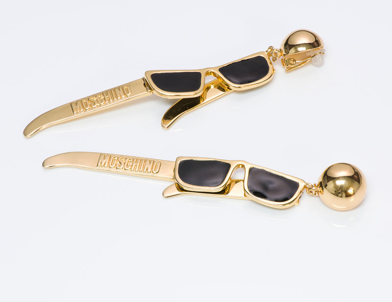 Moschino Couture Enamel Sunglasses Earrings 2