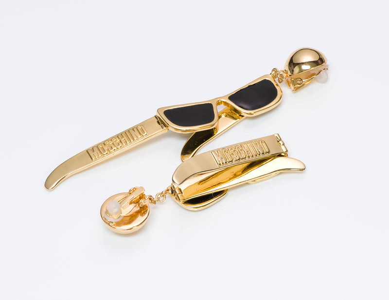 Moschino Couture Enamel Sunglasses Earrings 3