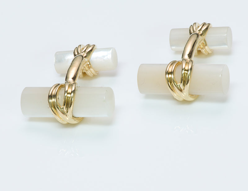 Tiffany & Co. Mother of Pearl Gold Cufflinks