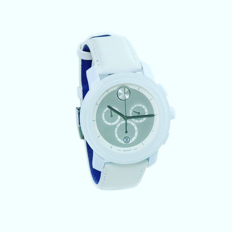 Movado Bold Chrono White Stainless Steel Watch