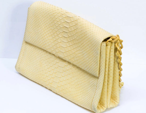 Nancy Gonzalez Python Snakeskin Crocodile Ombre Chain Flap Bag