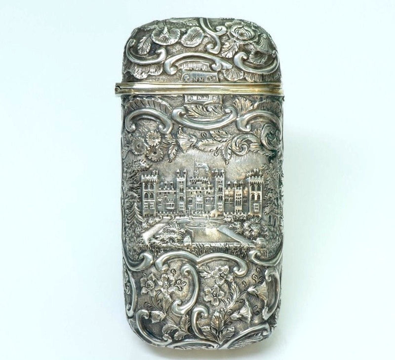 Nathaniel Mills Antique Silver Cigar Case-Box