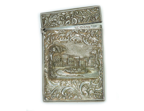 Antique Nathaniel Mills Sterling Silver Card Case