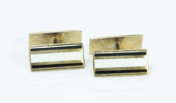 Norway Enamel Sterling Silver Cufflinks