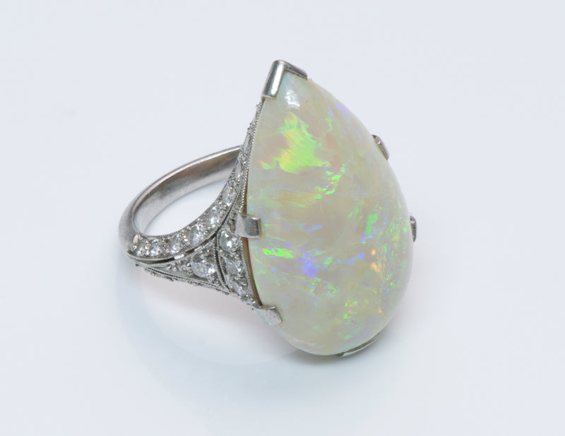 Opal and Diamond Gold Ring