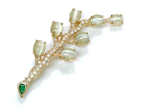 Oscar Heyman Cat's Eye Brooch