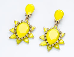 Oscar de la Renta Yellow Earrings