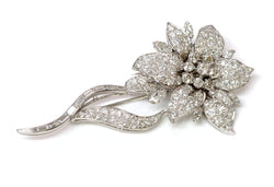 Oscar Heyman Diamond Platinum Flower Brooch