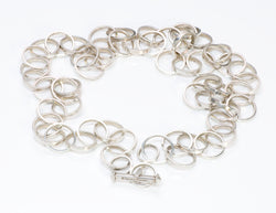 Paloma Picasso Tiffany Co. Sterling Chain Link Necklace