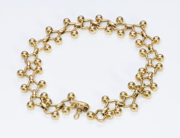 Tiffany & Co. France Paloma Picasso 18K Gold Ball Link Bracelet