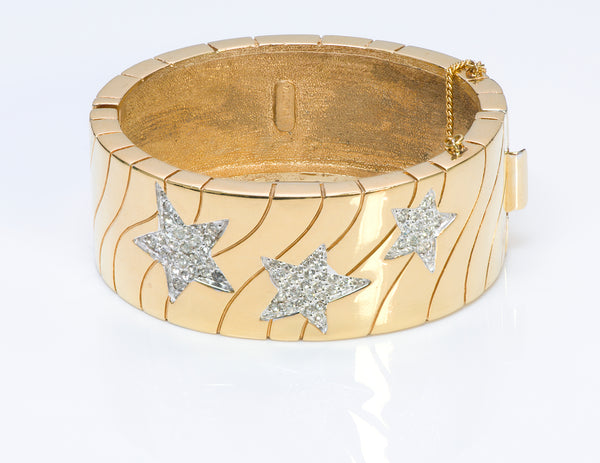 Panetta Star Crystal Bangle Bracelet1