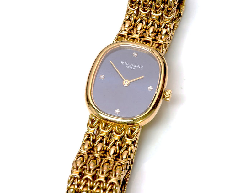 Patek Philippe Ellipse 18K Gold Diamond Watch