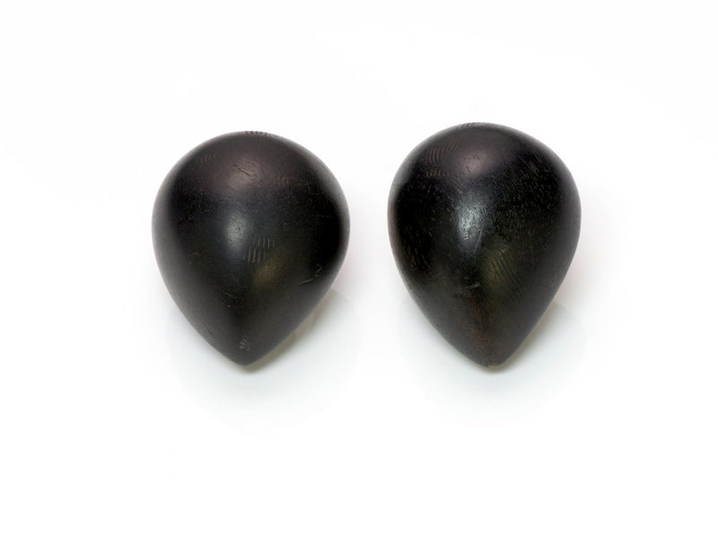 Patricia Von Musulin Sterling Silver Ebony Wood Earrings 1