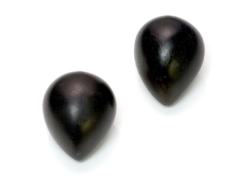Patricia Von Musulin Sterling Silver Ebony Wood Earrings