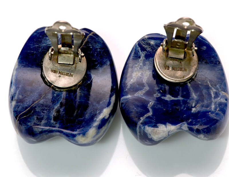 Patricia Von Musulin Sterling Silver Lapis Earrings 3