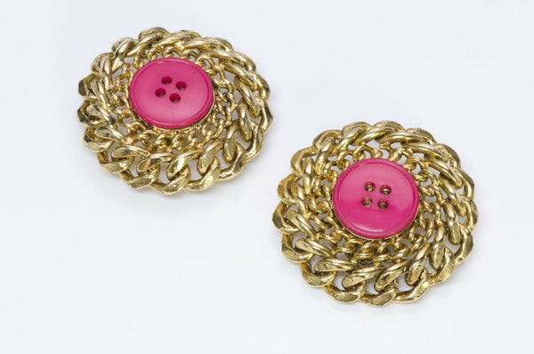 Patrick Kelly Paris 1980's Button Earrings
