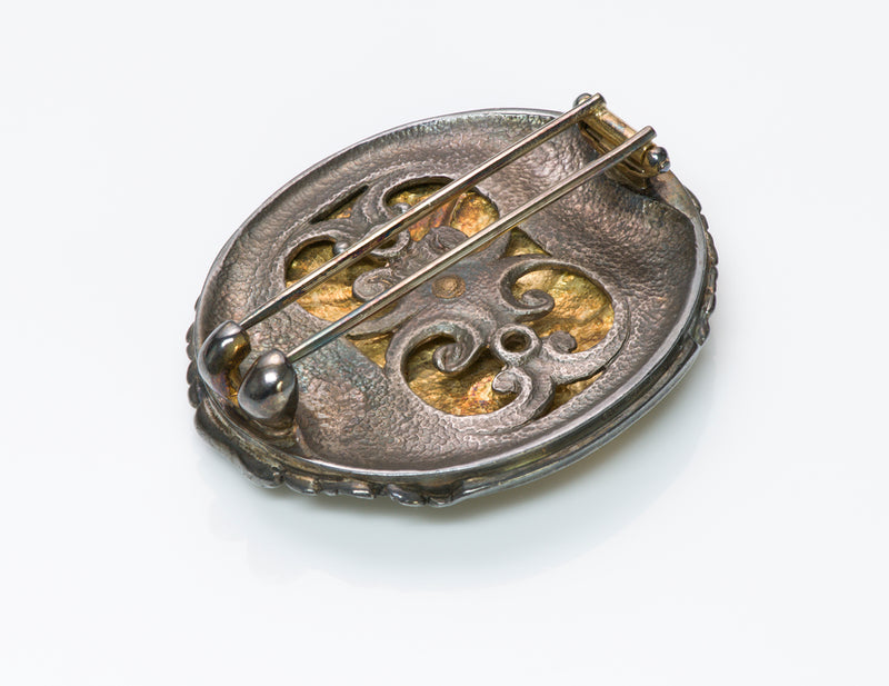 Paul Lantuch Gold Silver Brooch