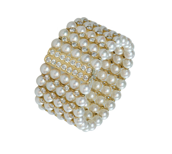 Pearl Diamond Bracelet