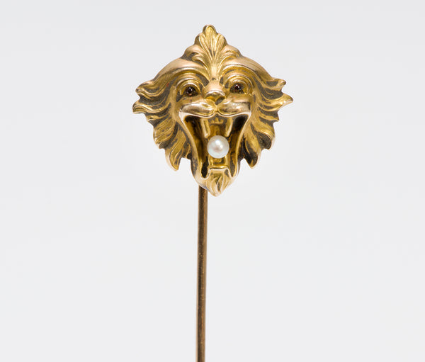 Antique Art Nouveau Gold Griffin Stickpin