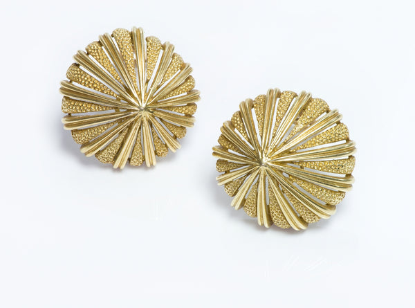 O J Perrin Gold Earrings
