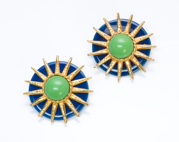 Philippe Ferrandis Paris Ceramic Sun Earrings