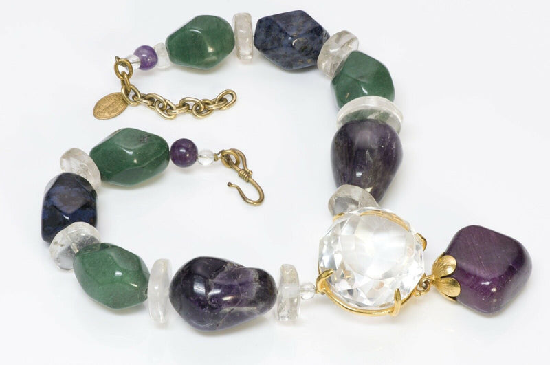 Philippe Ferrandis Semiprecious Agate Quartz Necklace