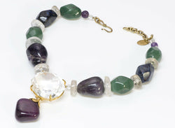 Philippe Ferrandis Semiprecious Amethyst Agate Quartz Necklace