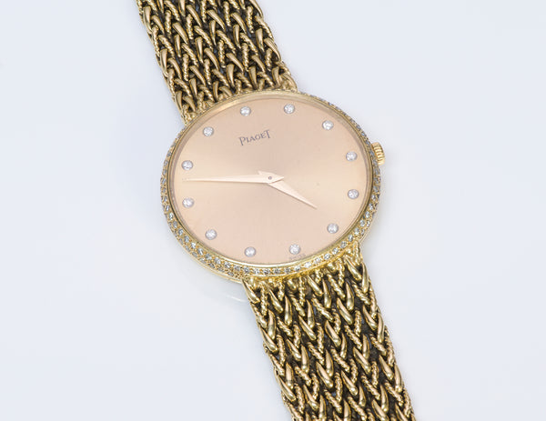 Piaget 18K Yellow Gold Diamond Watch